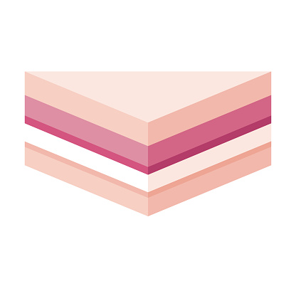 Dessert Japanese Konbini Sandwich Icon on Transparent Background