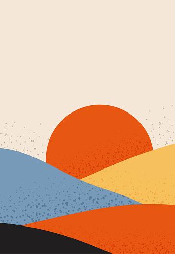 Dessert landscape poster