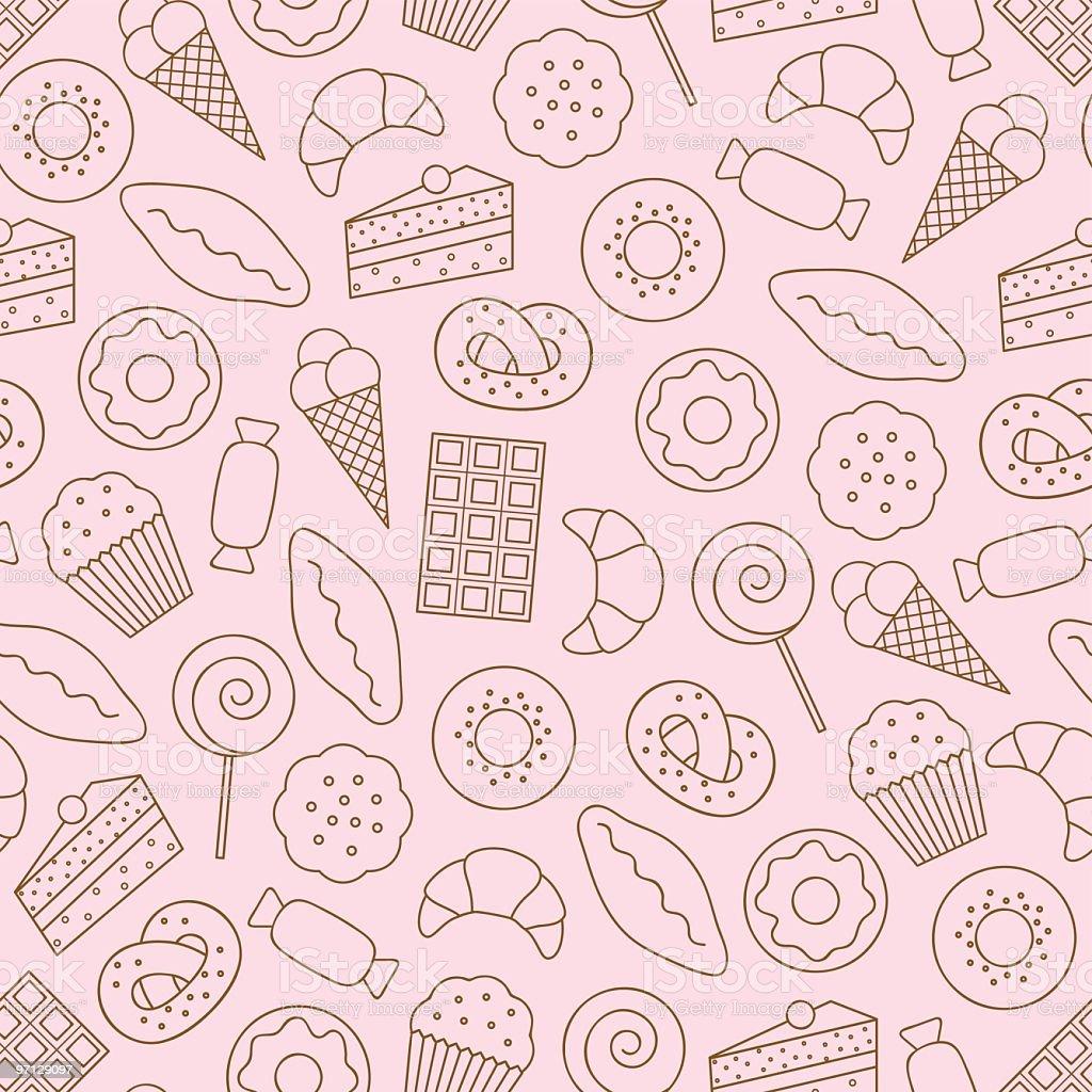 Dessert Seamless Background Stock Vector Art & More Images ...
