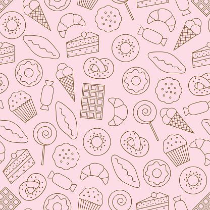 Dessert seamless background