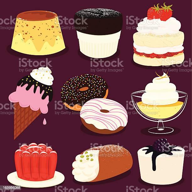 Desserts Icon Set Eps8 Stock Illustration - Download Image Now