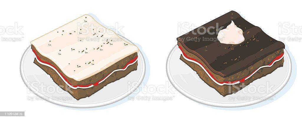 Desserts royalty-free stock vector art