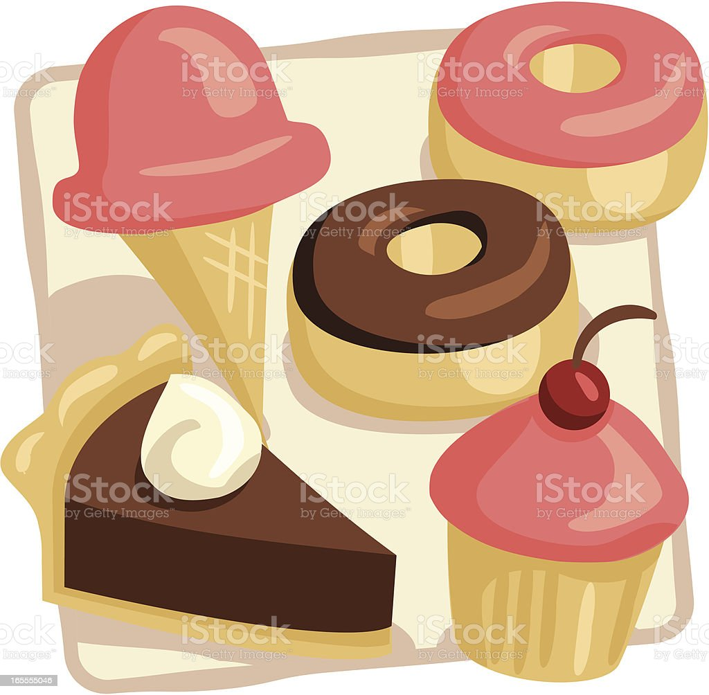 Desserts royalty-free stock vector art