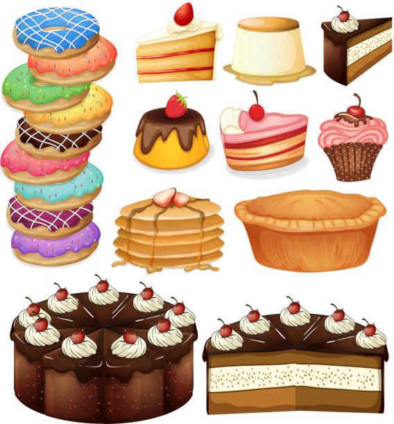 desserts - vanillesauce stock-grafiken, -clipart, -cartoons und -symbole