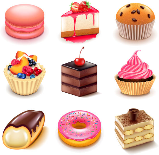 desserts  - tiramisu stock-grafiken, -clipart, -cartoons und -symbole