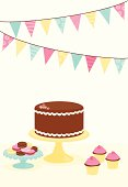 Desserts with bunting