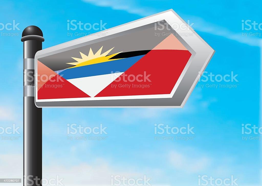 Destination: Antigua and Barbuda royalty-free stock vector art