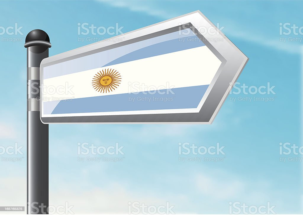 Destination: Argentina royalty-free stock vector art