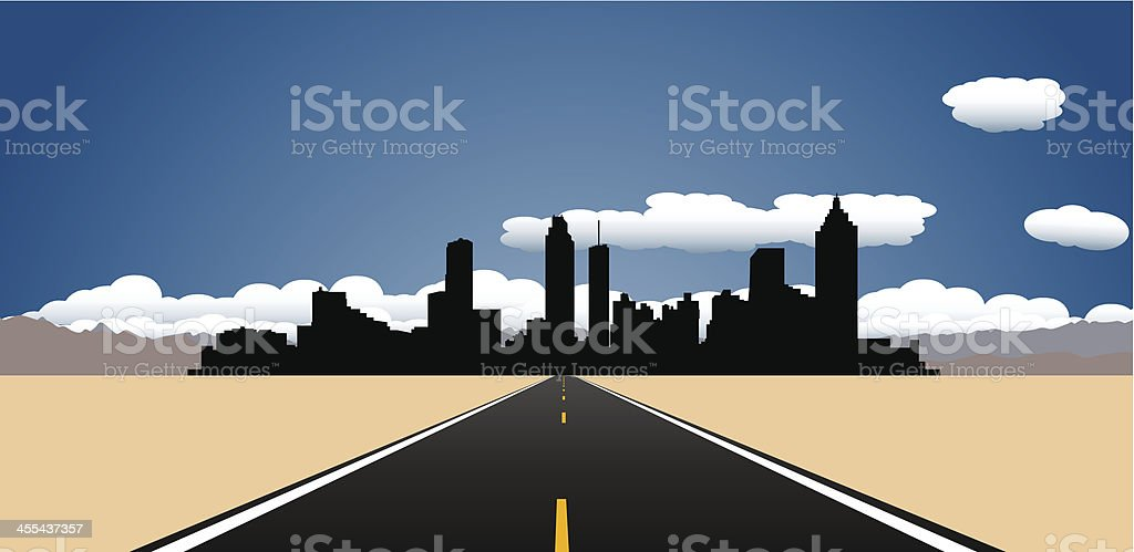 Destination Atlanta vector art illustration