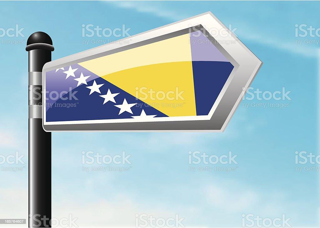 Destination: Bosnia and Herzegovina royalty-free stock vector art