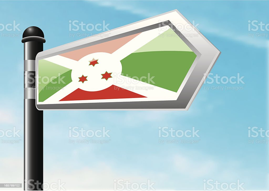 Destination: Burundi royalty-free stock vector art