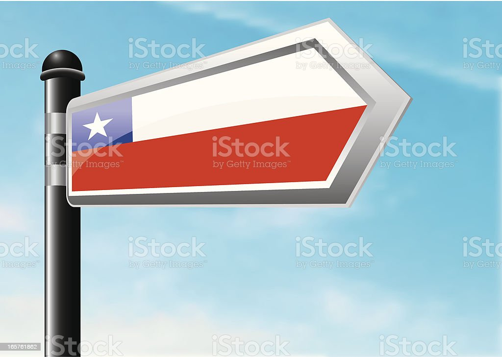 Destination: Chile royalty-free stock vector art