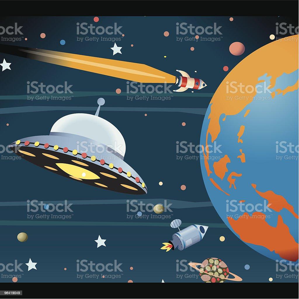 Destination Earth vector art illustration