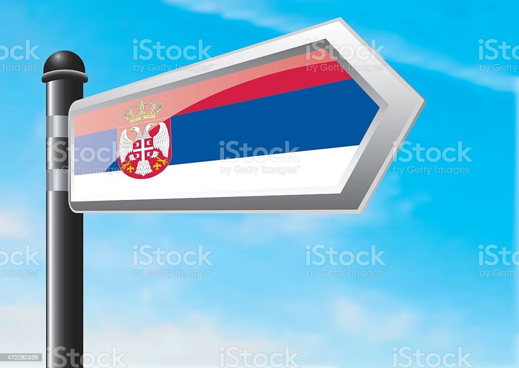 Destination: Serbia royalty-free stock vector art
