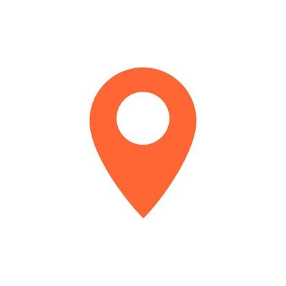 Destination vector icon. Map pointer icon