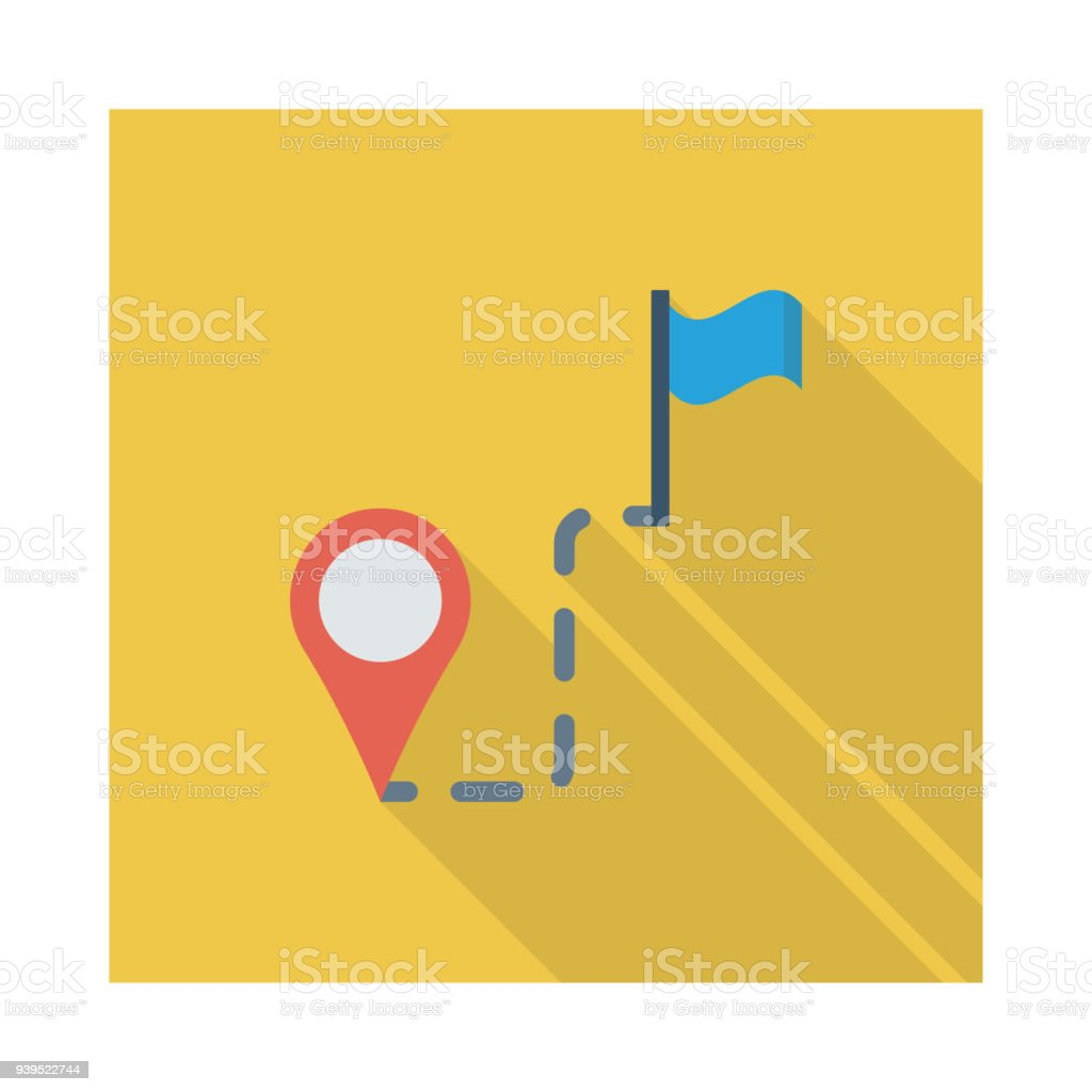 destination vector art illustration