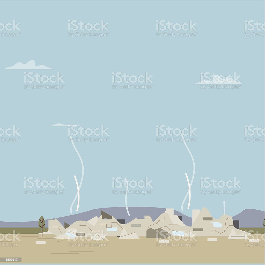 Destroyed building royalty-free destroyed building stock vector art & more images of built structure