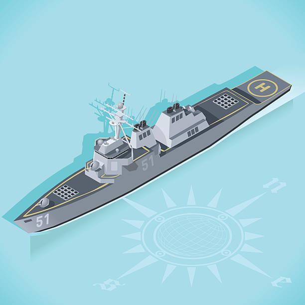 destroyer 01 vehicle isometric - 海軍藍 幅插畫檔、美工圖案、卡通及圖標