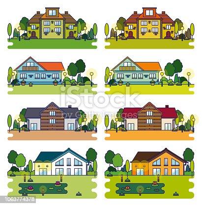 istock Detached Houses 1063774378