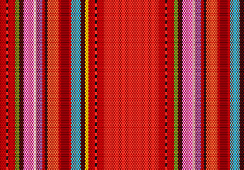 detail background with mexican color. texture pattern for continuous replicate. mexican rug pattern.