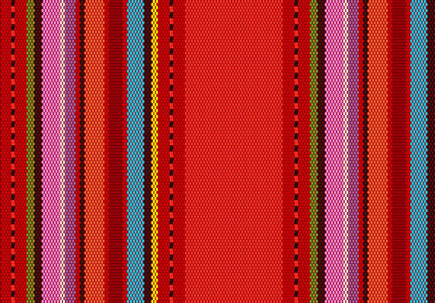detail background with mexican color. texture pattern for continuous replicate. mexican rug pattern. detail background with mexican color. texture pattern for continuous replicate. mexican rug pattern. serape stripes vector mexico stock illustrations