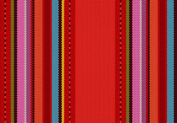 ilustraciones, imágenes clip art, dibujos animados e iconos de stock de fondo de detalle con color mexicano. patrón de textura para la replicación continua. patrón de alfombra mexicana. - méxico