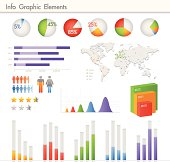 Detail info graphic vector illustration. World Map and Information Graphics