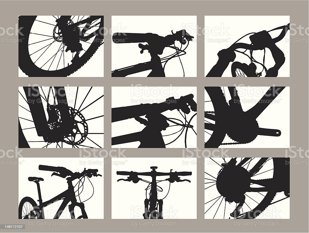 Detail of Bicycle parts royalty-free stock vector art