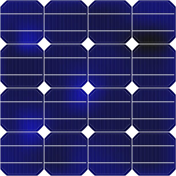 ilustrações de stock, clip art, desenhos animados e ícones de detail of the solar panel - solar panel