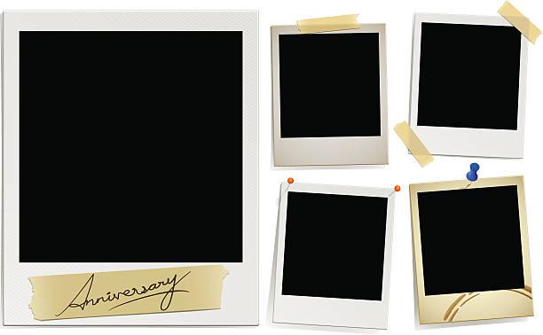 stockillustraties, clipart, cartoons en iconen met detail photos (vector) - polaroid