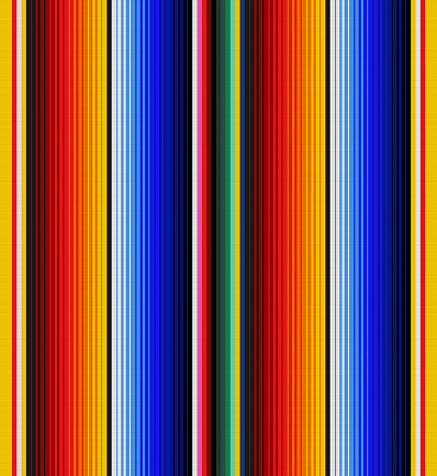 detail seamless background with mexican color. texture pattern for continuous replicate. serape stripes vector