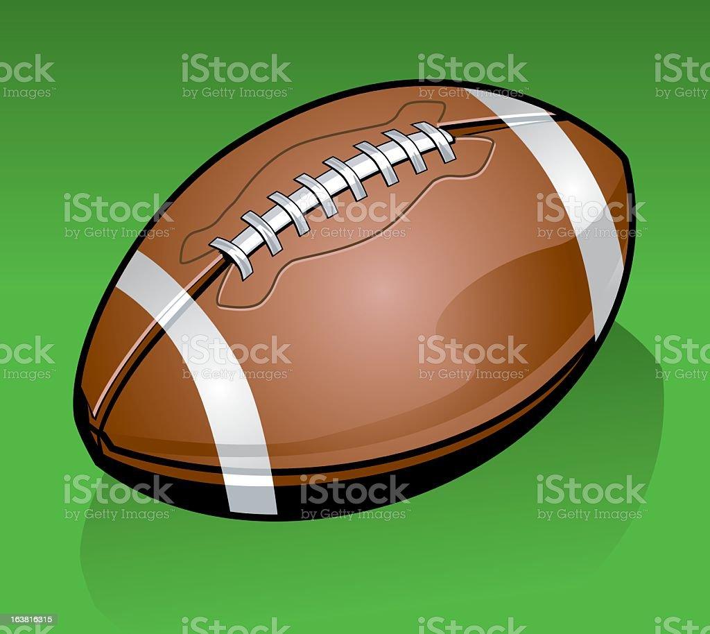 Detailed American Football royalty-free stock vector art