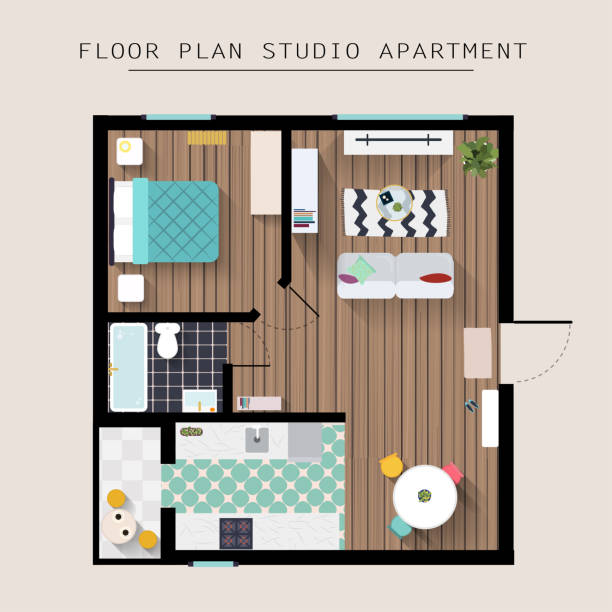 Best Websites To Search For Apartments: Best Studio Apartment Illustrations, Royalty-Free Vector