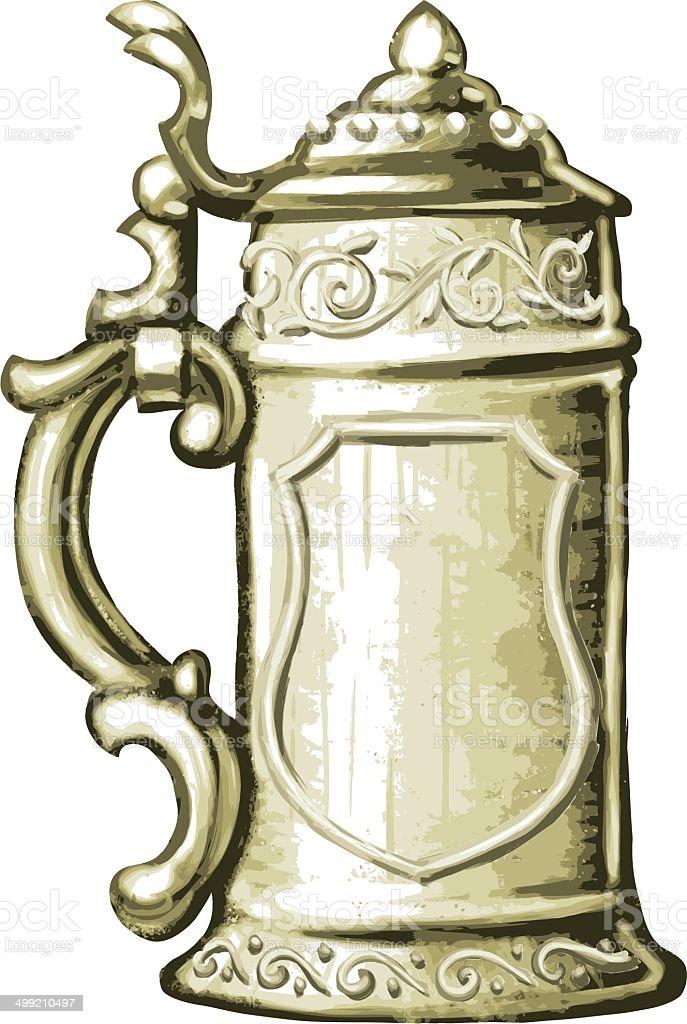 Detaillierte Bierkrug – Vektorgrafik