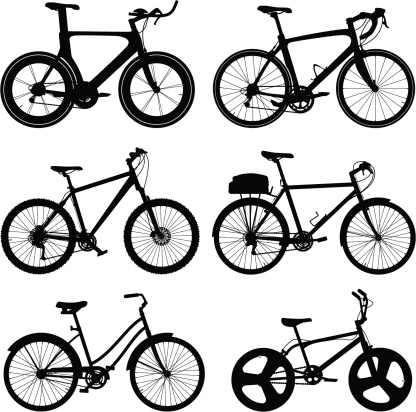 Detailed Bike Silhouettes