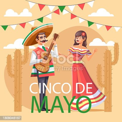 istock Detailed Cinco de Mayo illustration Vector illustration 1309045157