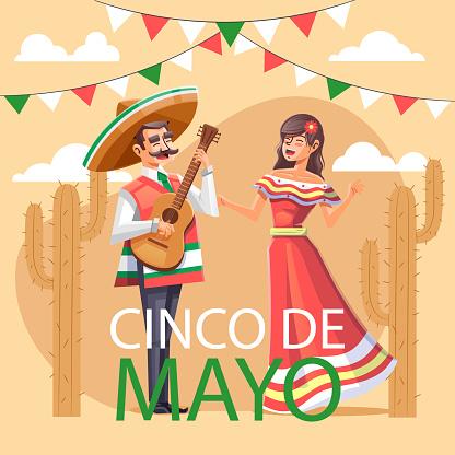 Detailed Cinco de Mayo illustration Vector illustration
