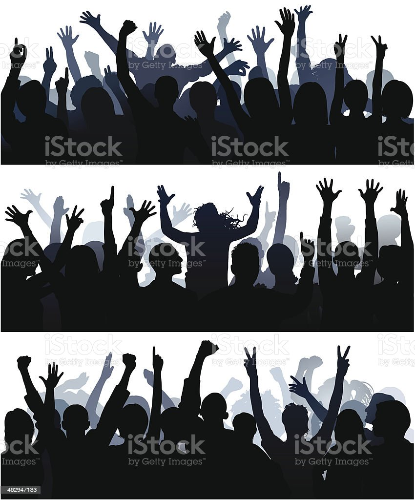 Detailed Crowds (60 Complete People, Clipping Path Hides the Legs) royalty-free detailed crowds stock vector art & more images of adult