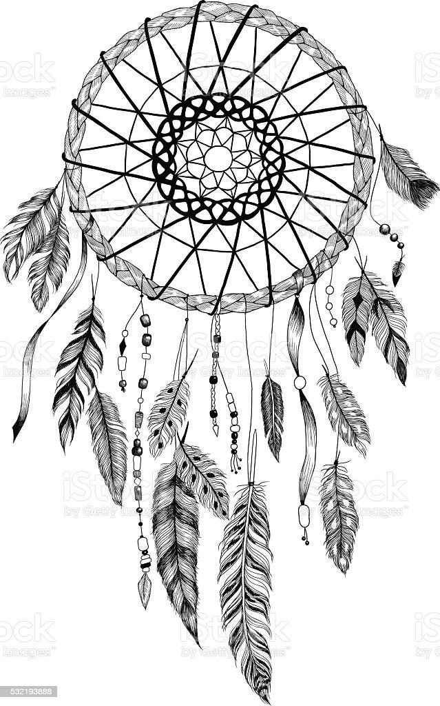 Ilustración de Cazador De Sueños Detallada Con Sol Ornament y más ...