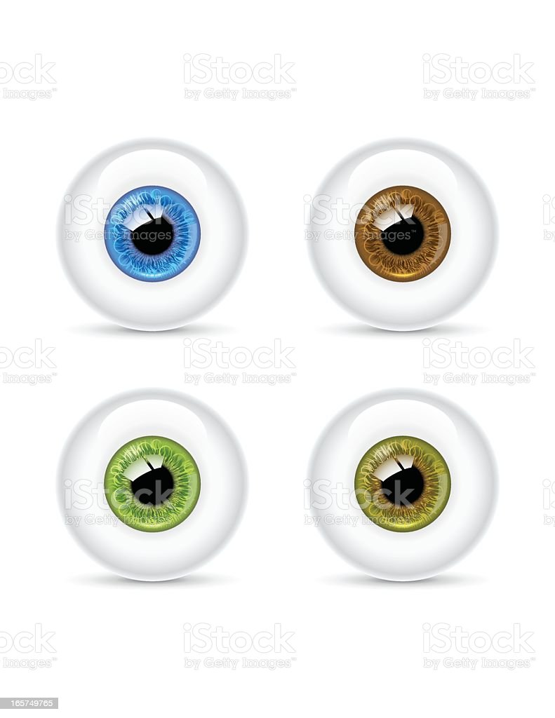 Detailed Eyeball | Clean royalty-free detailed eyeball clean stock vector art & more images of blue