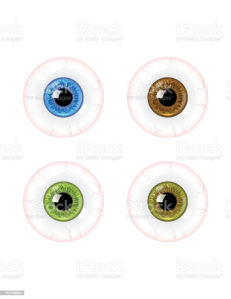 Detailed Eyeball royalty-free detailed eyeball stock vector art & more images of blue