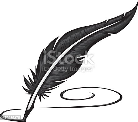 quill pen with lots of detail in the feather