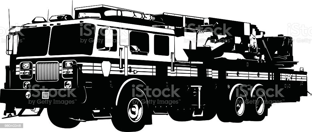 Detailed Fire Truck royalty-free detailed fire truck stock vector art & more images of american culture