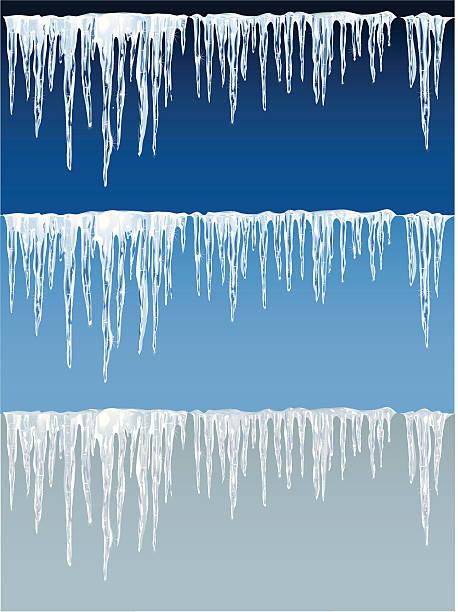 detaillierte icicles auf blau und grau hintergrund - eiszapfen stock-grafiken, -clipart, -cartoons und -symbole