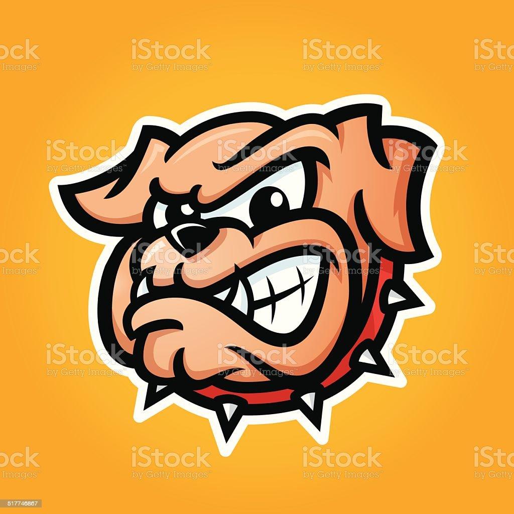 Detailed illustration of bulldog head vector art illustration