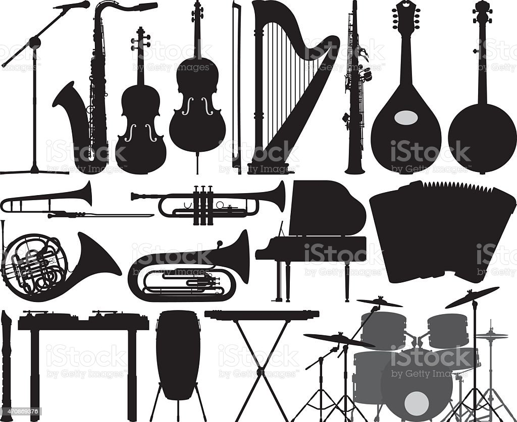 Detailed Instruments vector art illustration