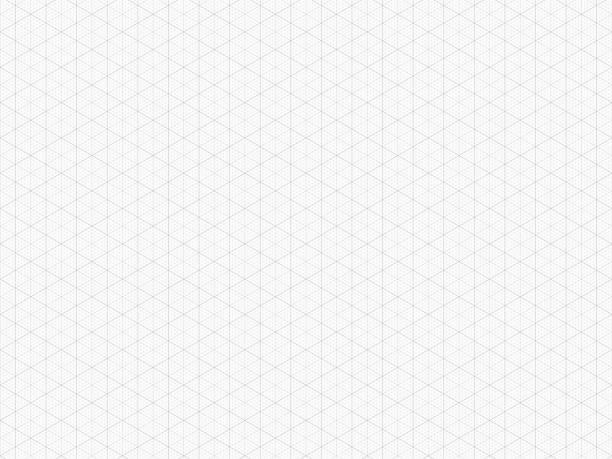 szczegółowa siatka izometryczna. wysokiej jakości trójkątny papier milimetrowy. bezszwowy wzór. szablon siatki wektorowej dla twojego projektu. rzeczywisty rozmiar - rzut izometryczny stock illustrations