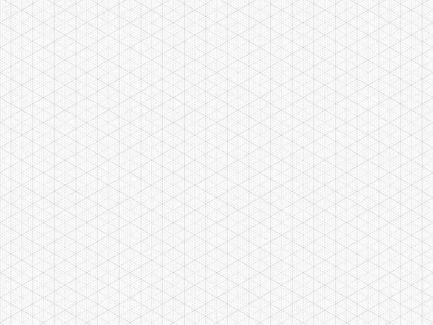 detailed isometric grid. high quality triangle graph paper. seamless pattern. vector grid template for your design. real size - abstract architecture stock illustrations