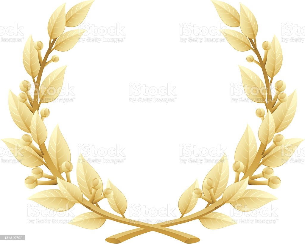 Detailed Laurel Wreath Victory or Quality Award, Vector Illustration vector art illustration