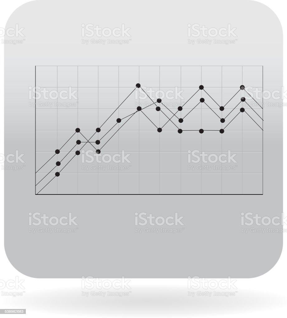 Detailed Line graph  icon vector art illustration